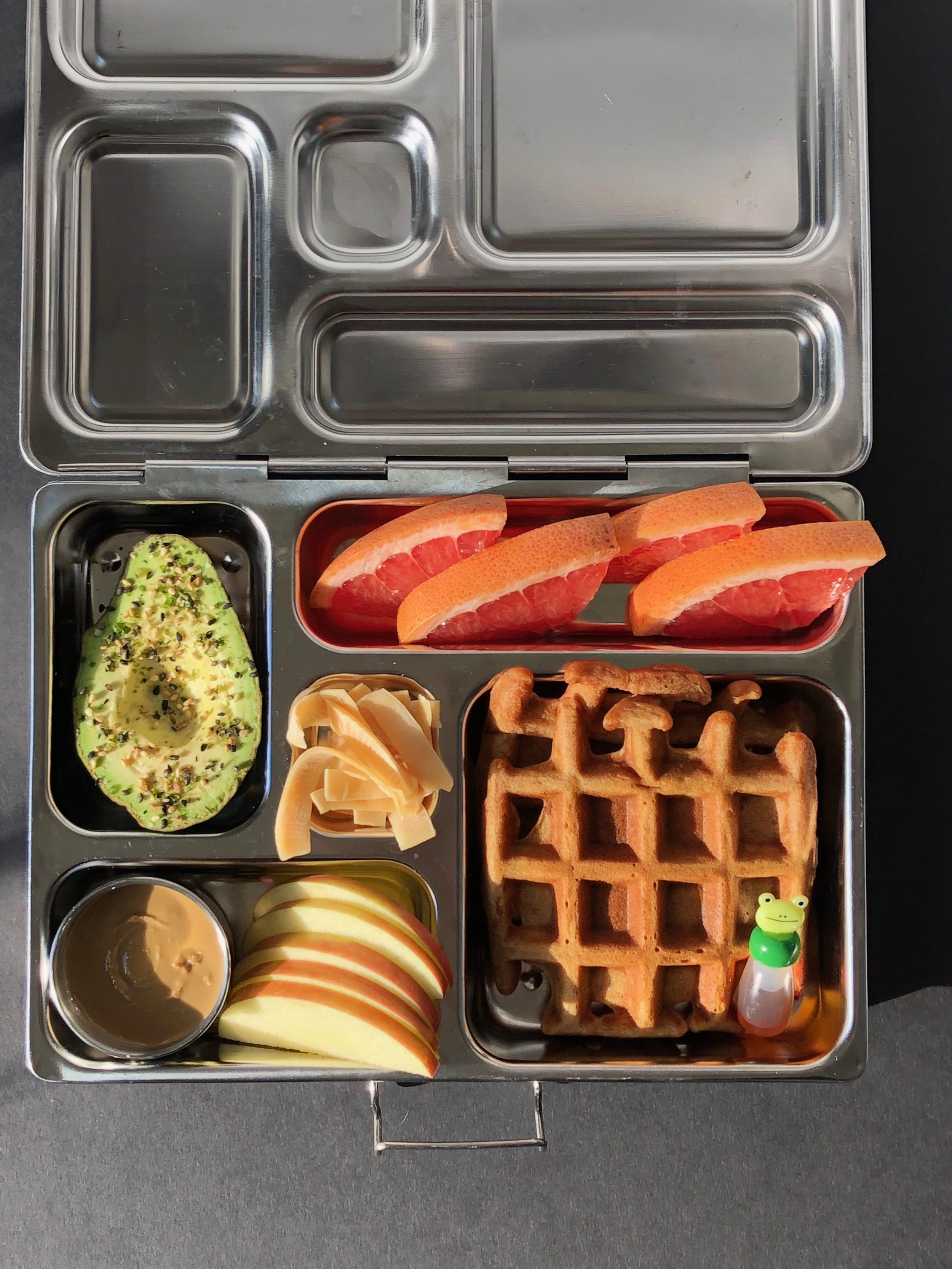 Golden Milk Waffles for a dairy free nut free lunchbox