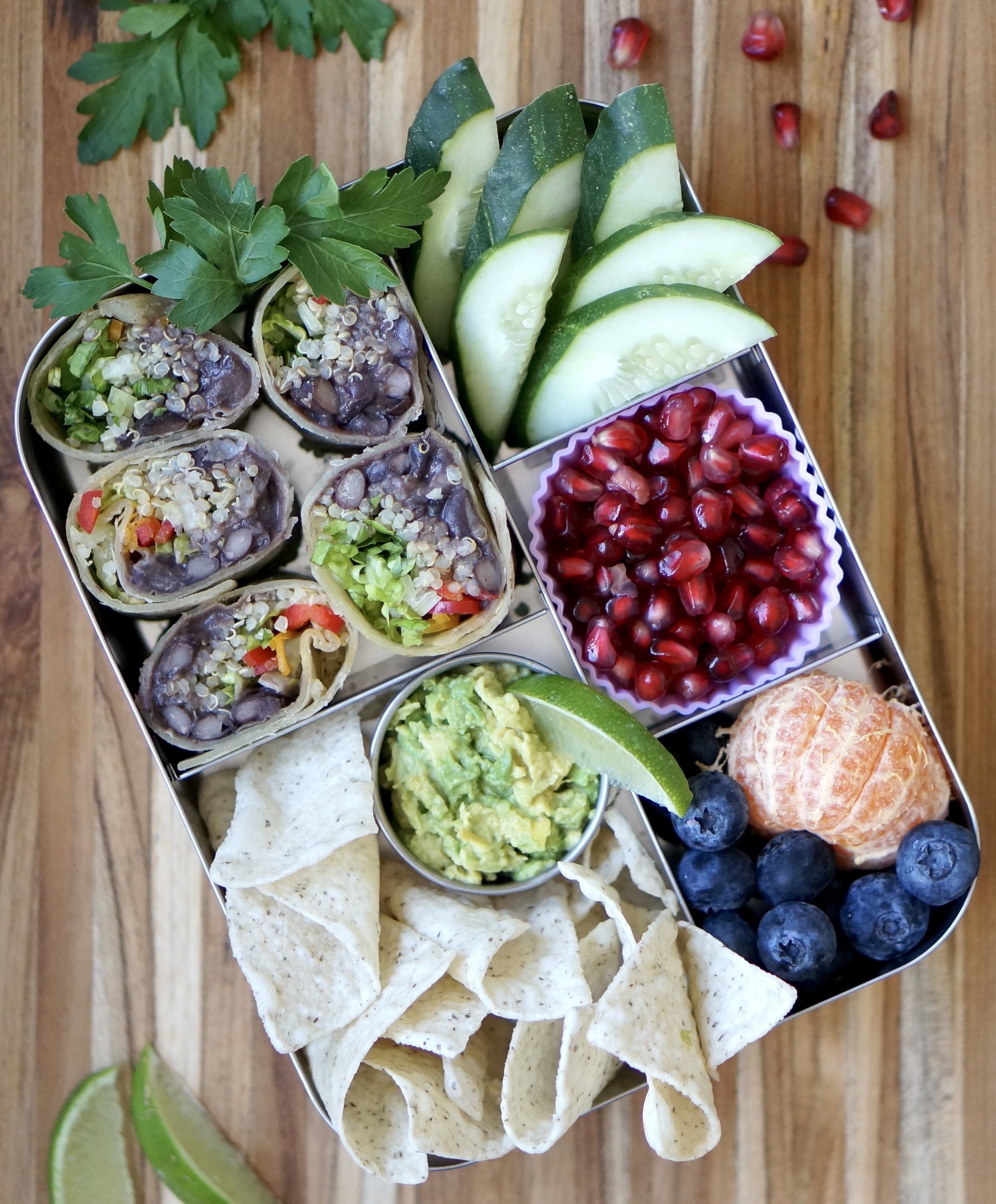 Black Bean Burrito Lunchbox