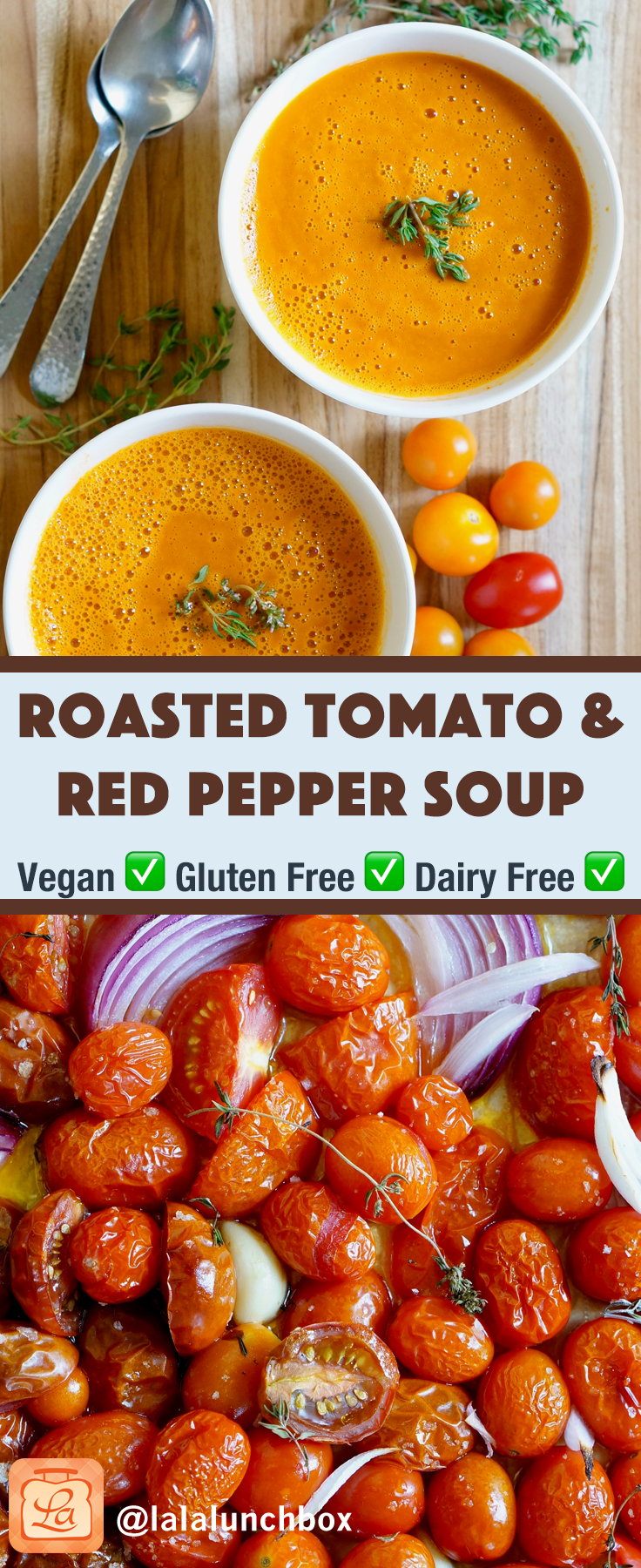 Roasted Tomato Red Pepper Soup Pin