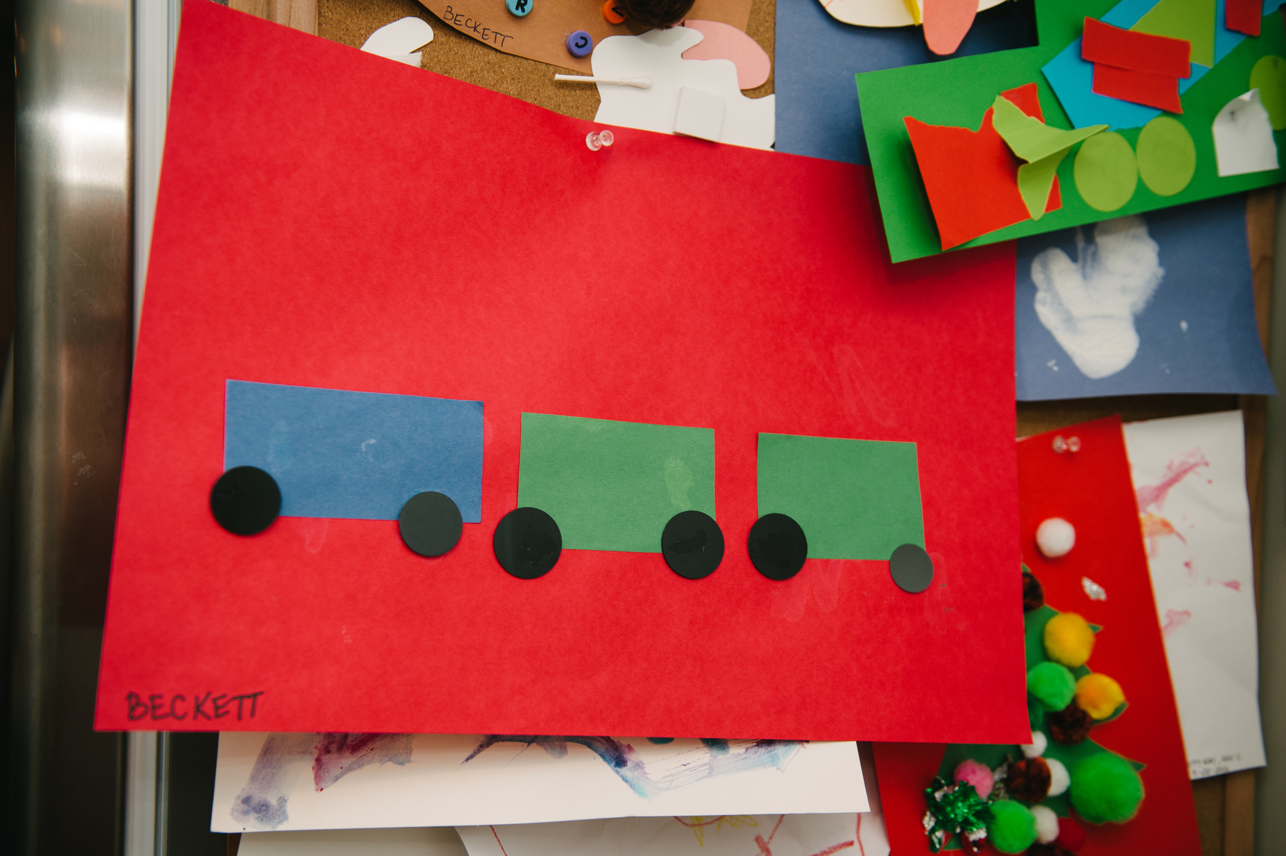 Beckett's Christmas Train from Preschool