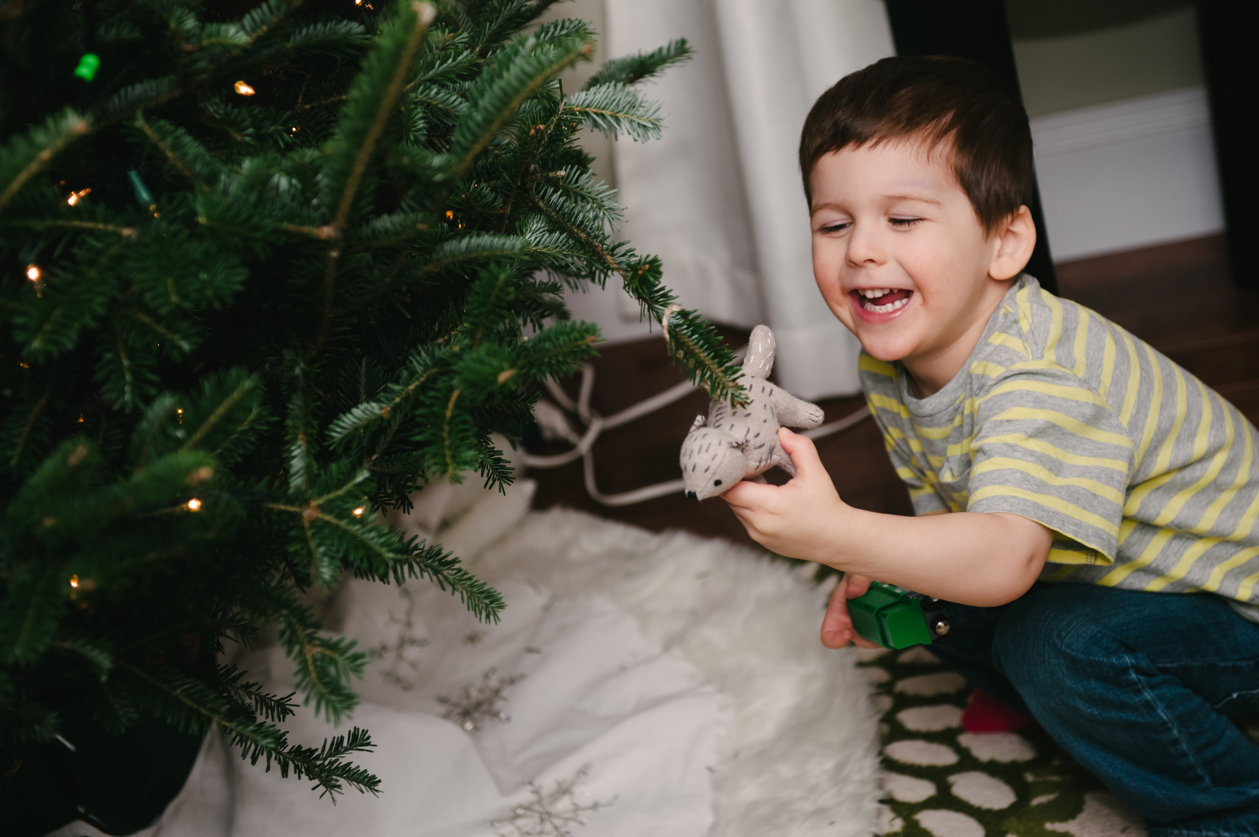 Helping Decorate the Tree