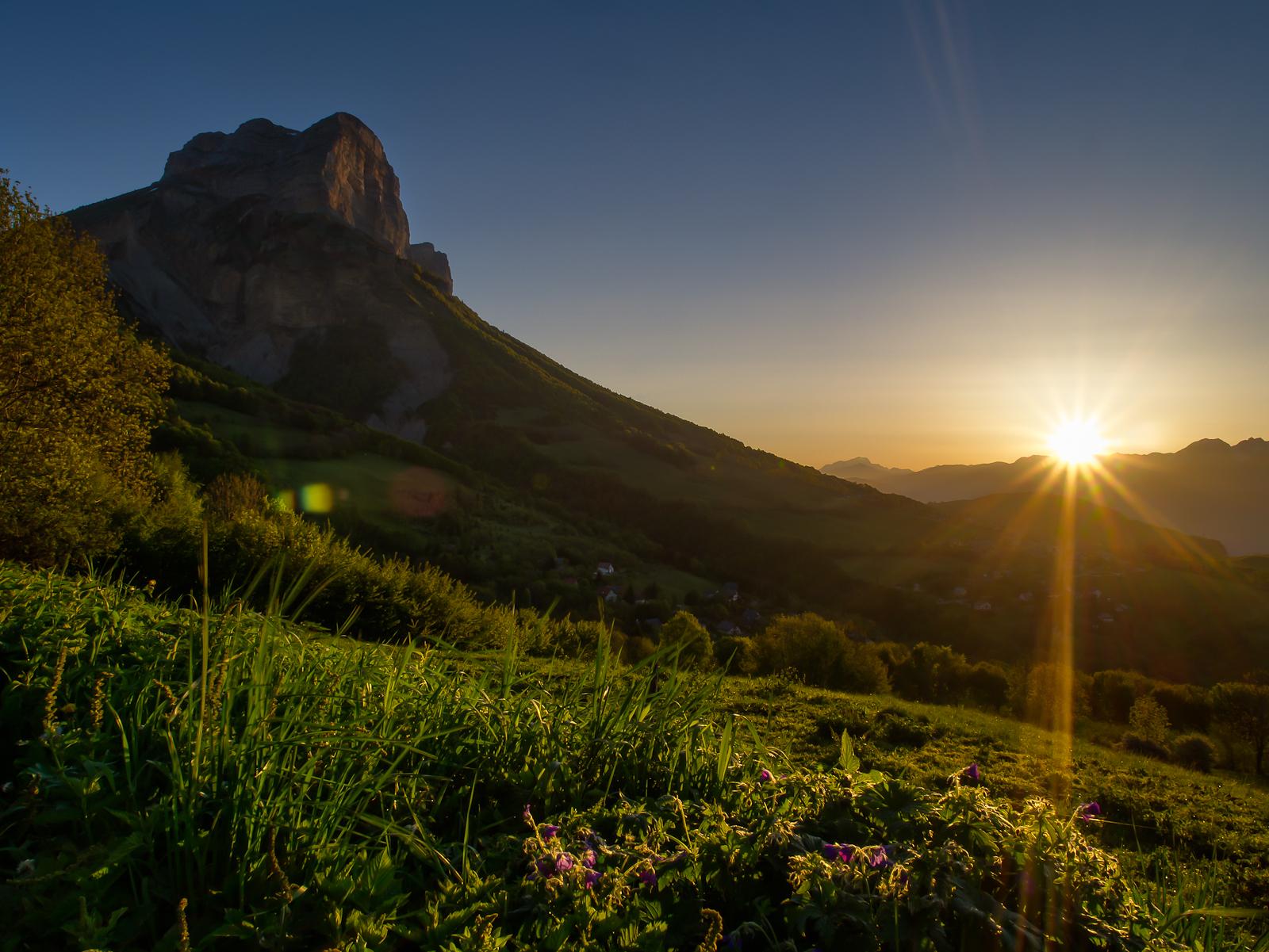 Dent du Crolles at Sunrise
