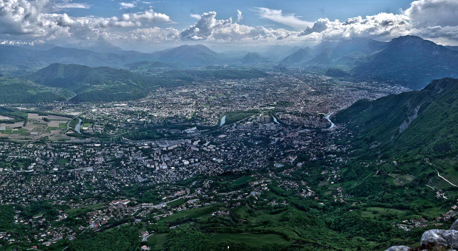 Grenoble from St Eynard