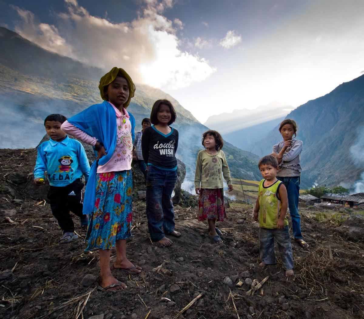 Inquisitive Nepal children