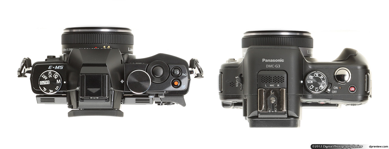 Olympus OM-D E-M5 side by side with the G3