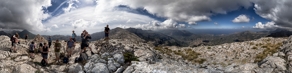 View from es Cornador Gran (953m) to Soller and Port de Soller on Mallorca