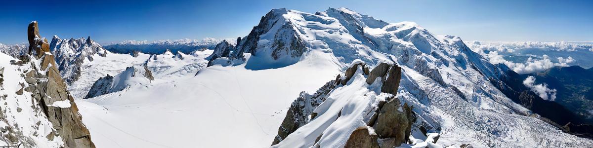 Mont Blanc from Aiguille du Midi
