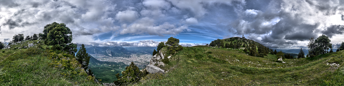 Grenoble from Le Moucherotte
