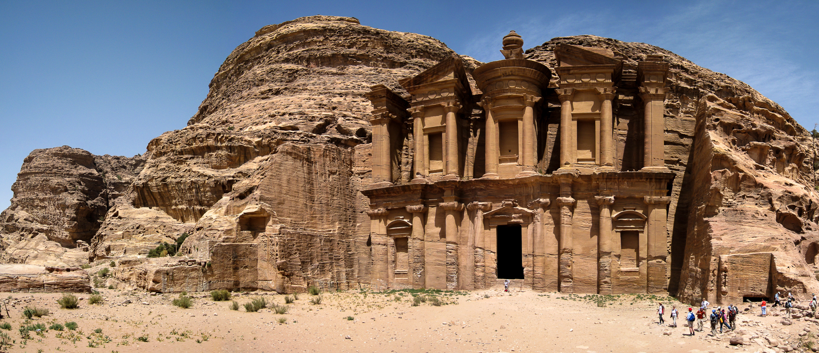 The Monastry at the far end of Petra