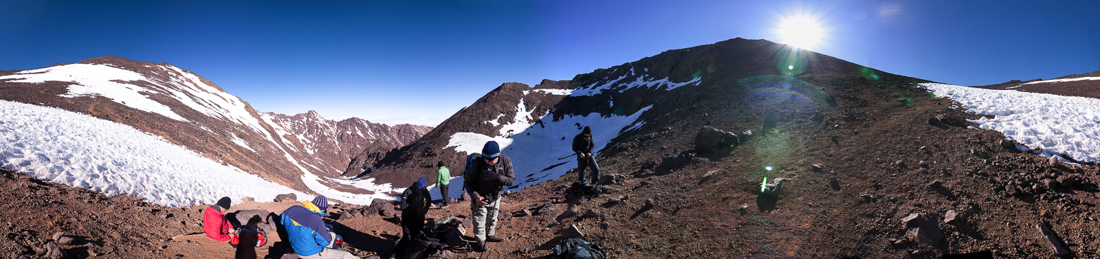 Close to the summit of Toubkal