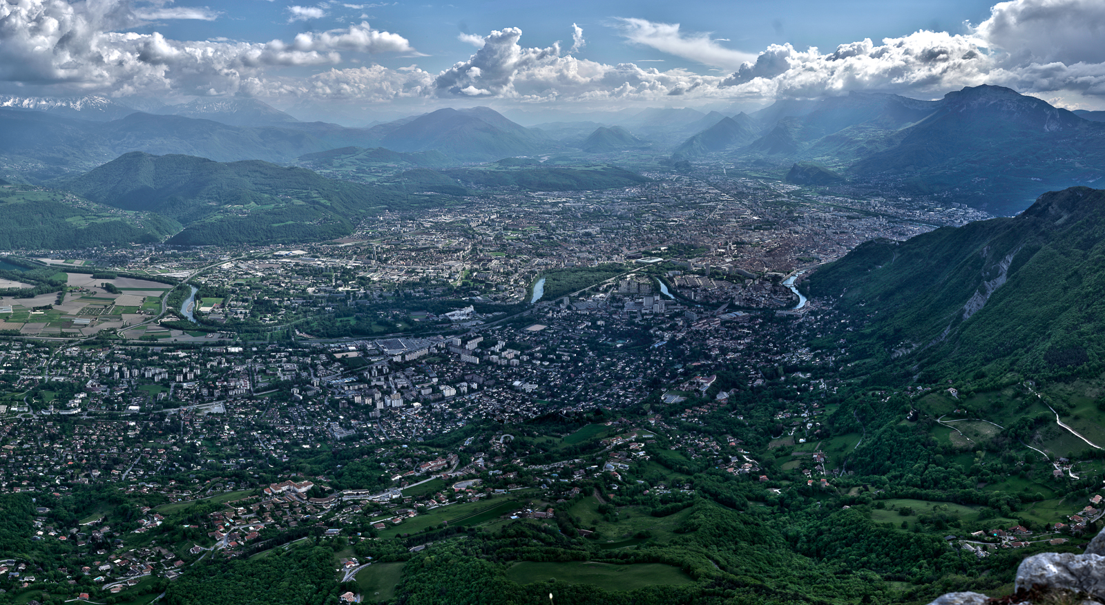 Grenoble from Fort St Eynard
