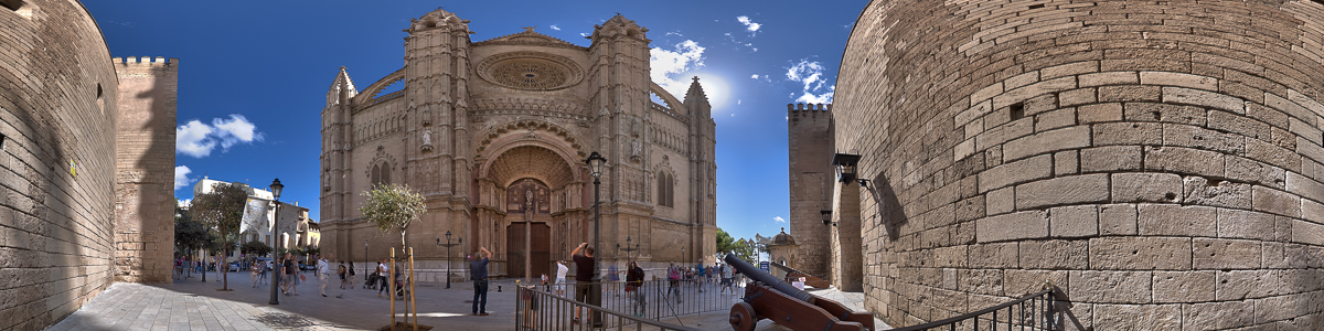 Outside Palma Cathedral