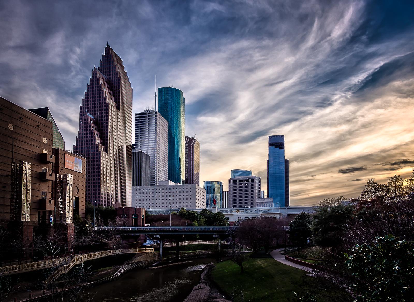 Downtown Houston from the Buffalo Bayou