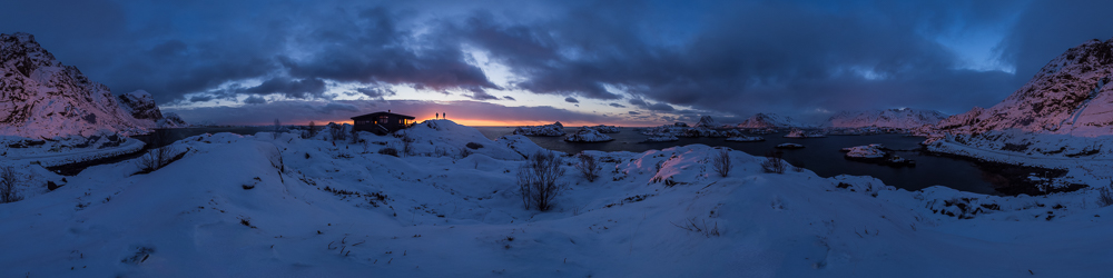 Sunrise just off Steinevein highway in Lofoten