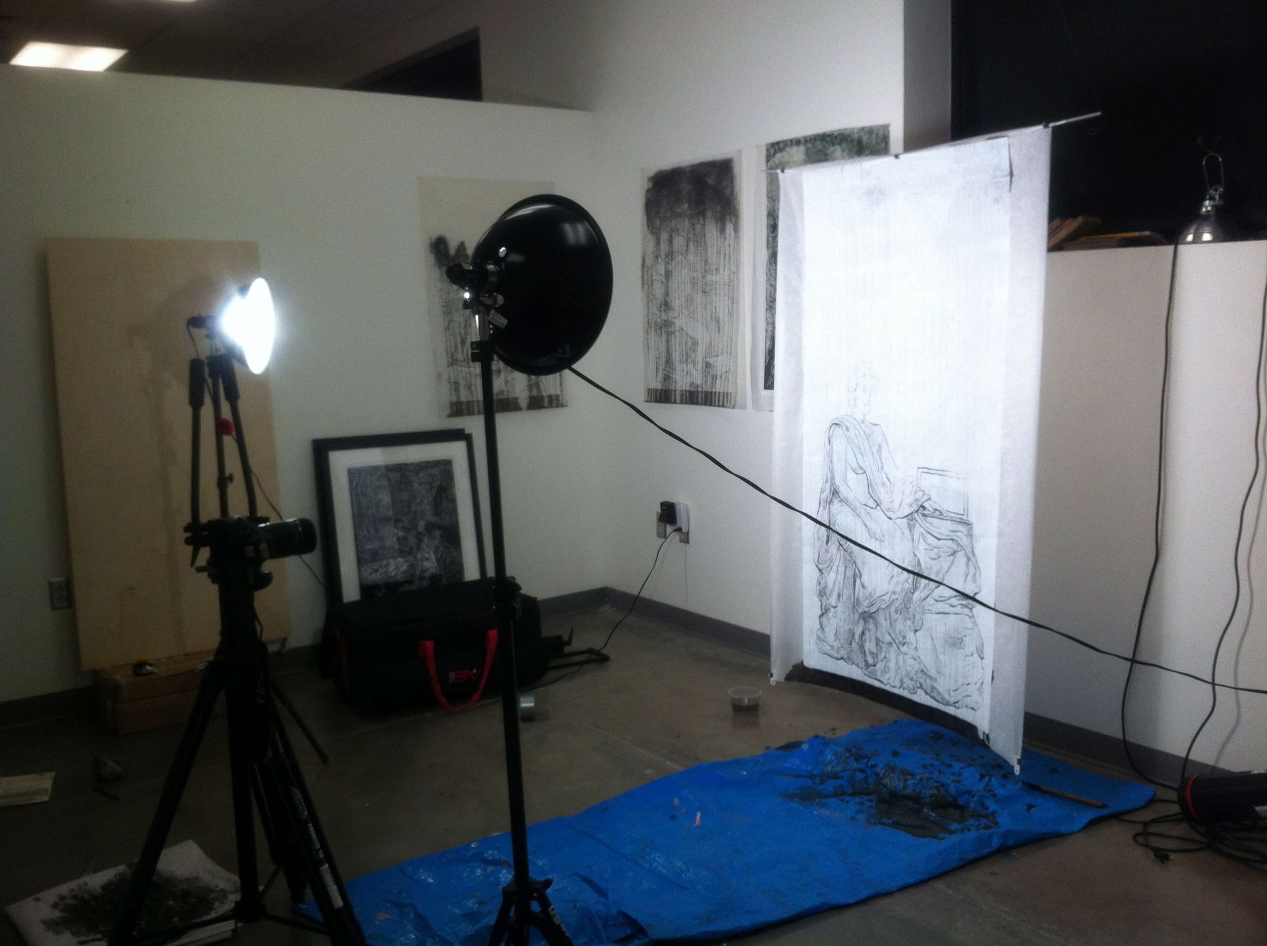 Late at Nite Art making!