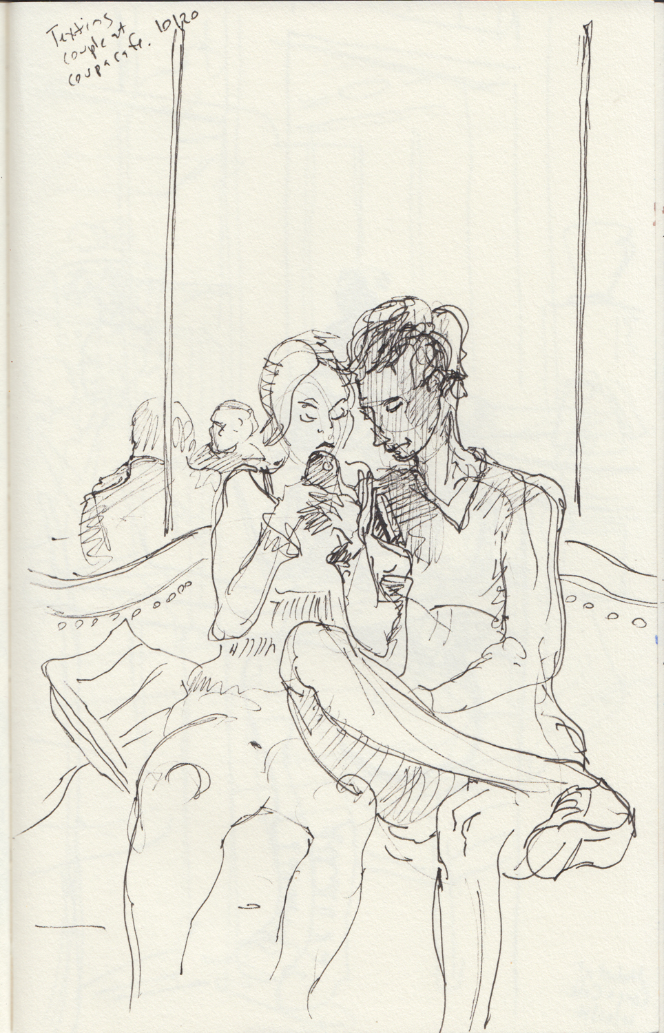2014 - 10 - 20 - sketchbook - texting kids at coupa.jpg