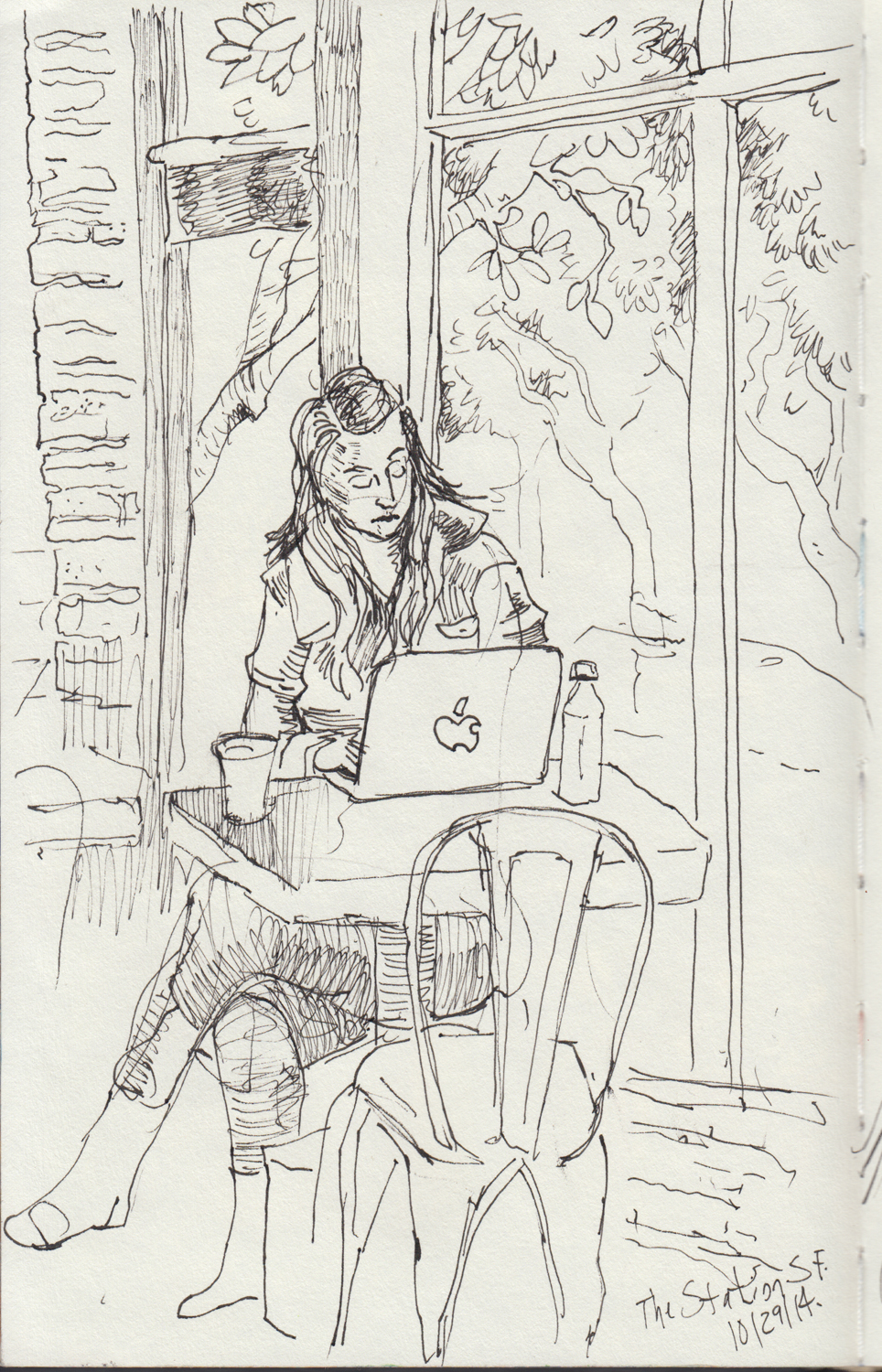2014 - 10 - 29 - sketchbook - woman at coupa.jpg