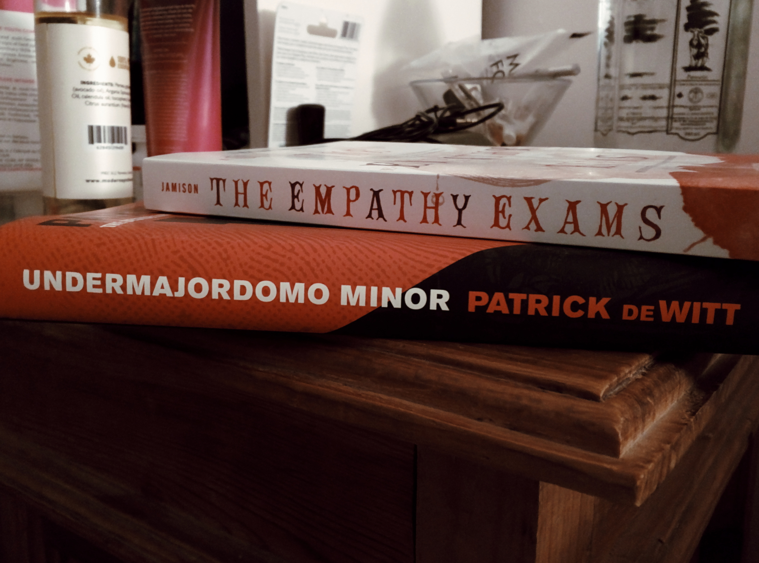 Empathy Exams  is a reread for me (highly recommended! to everyone! even people who say they aren't readers!) and I picked up  Undermajordomo Minor  at this year's Winnipeg Writer's Festival during Patrick DeWitt's reading.