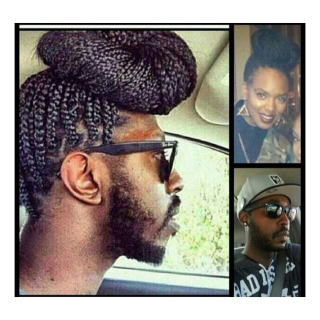 Remember when me and @jay_deuce gave birth to a full grown man child with braids? #TBT 😂😂😂 Happy Thursday!