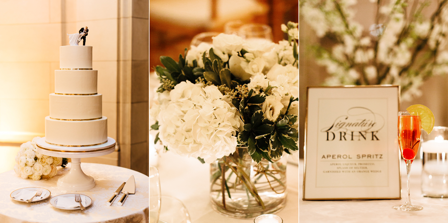 Reception details at Meridian House in DC - Maria Vicencio Photography Weddings