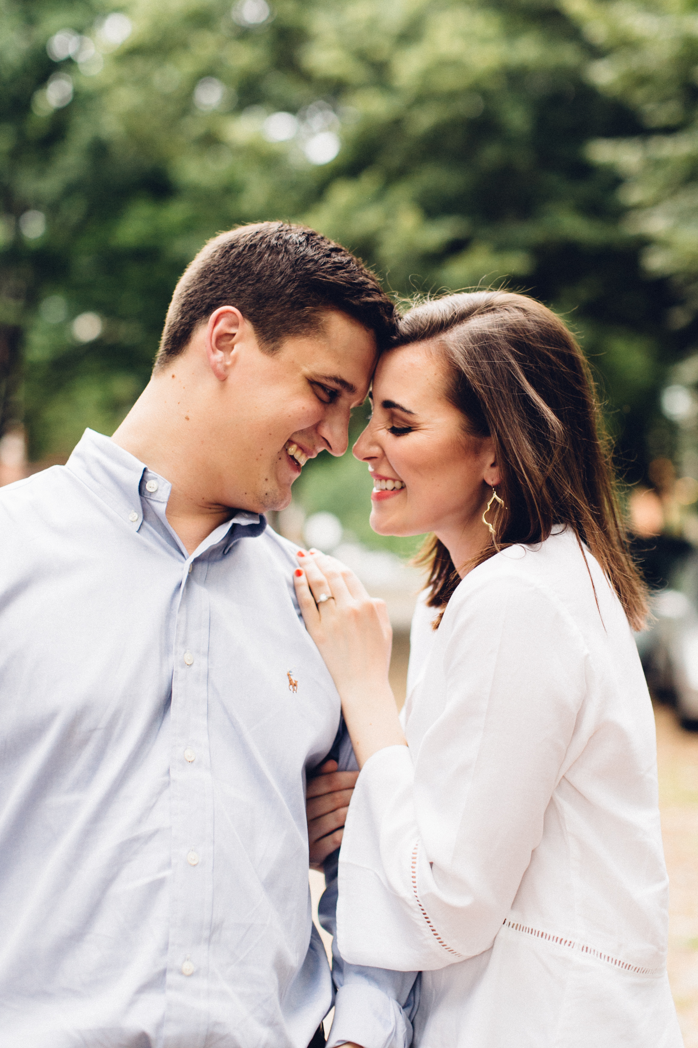 Old Town Alexandria Engagement Photo by Maria Vicencio Photography