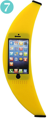 O'plaza® Stylish Banana Outside Shape Soft Silicone Case Cover for iPhone 5 & 5s