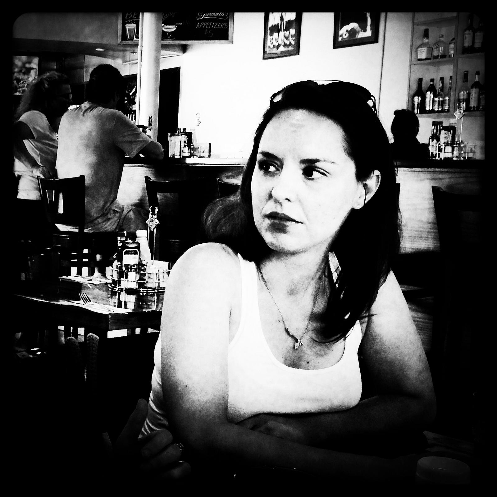 Susan at breakfast in San Jose.
