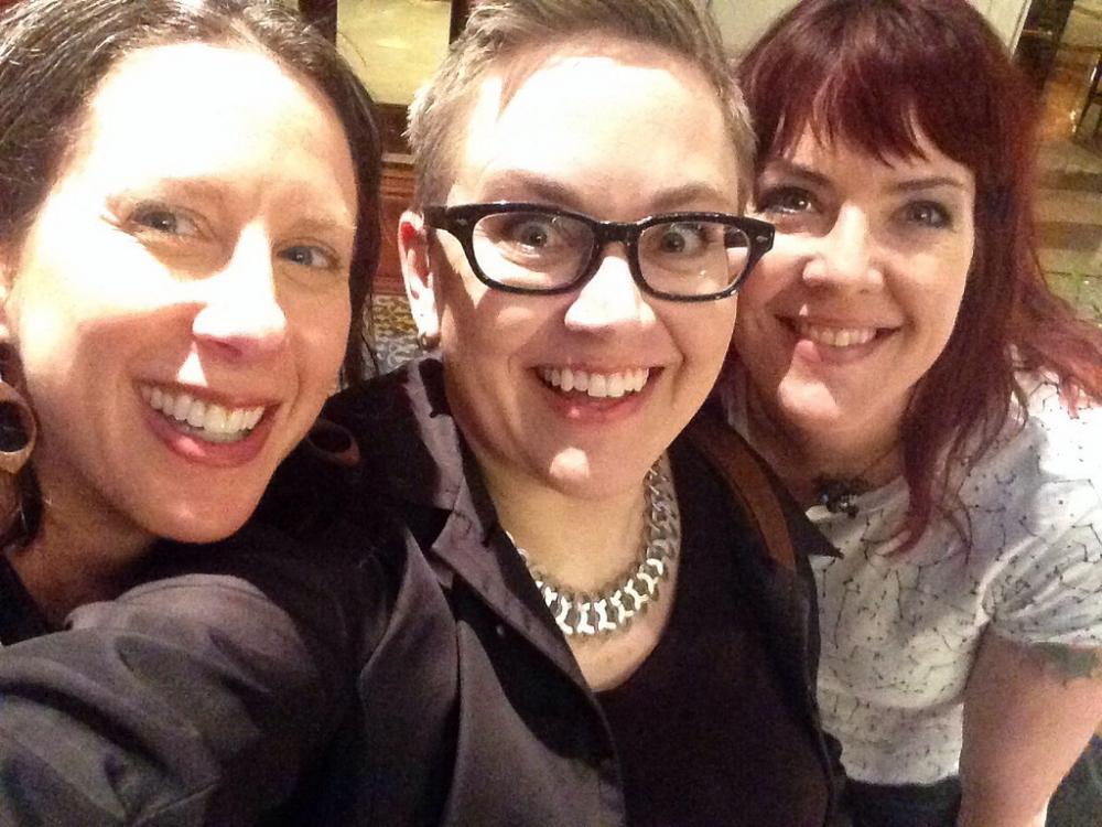 Susan Goldberg , me, and  Farrah Braniff