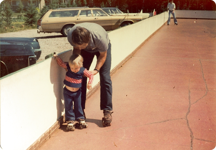 my father and I in what could be 1976