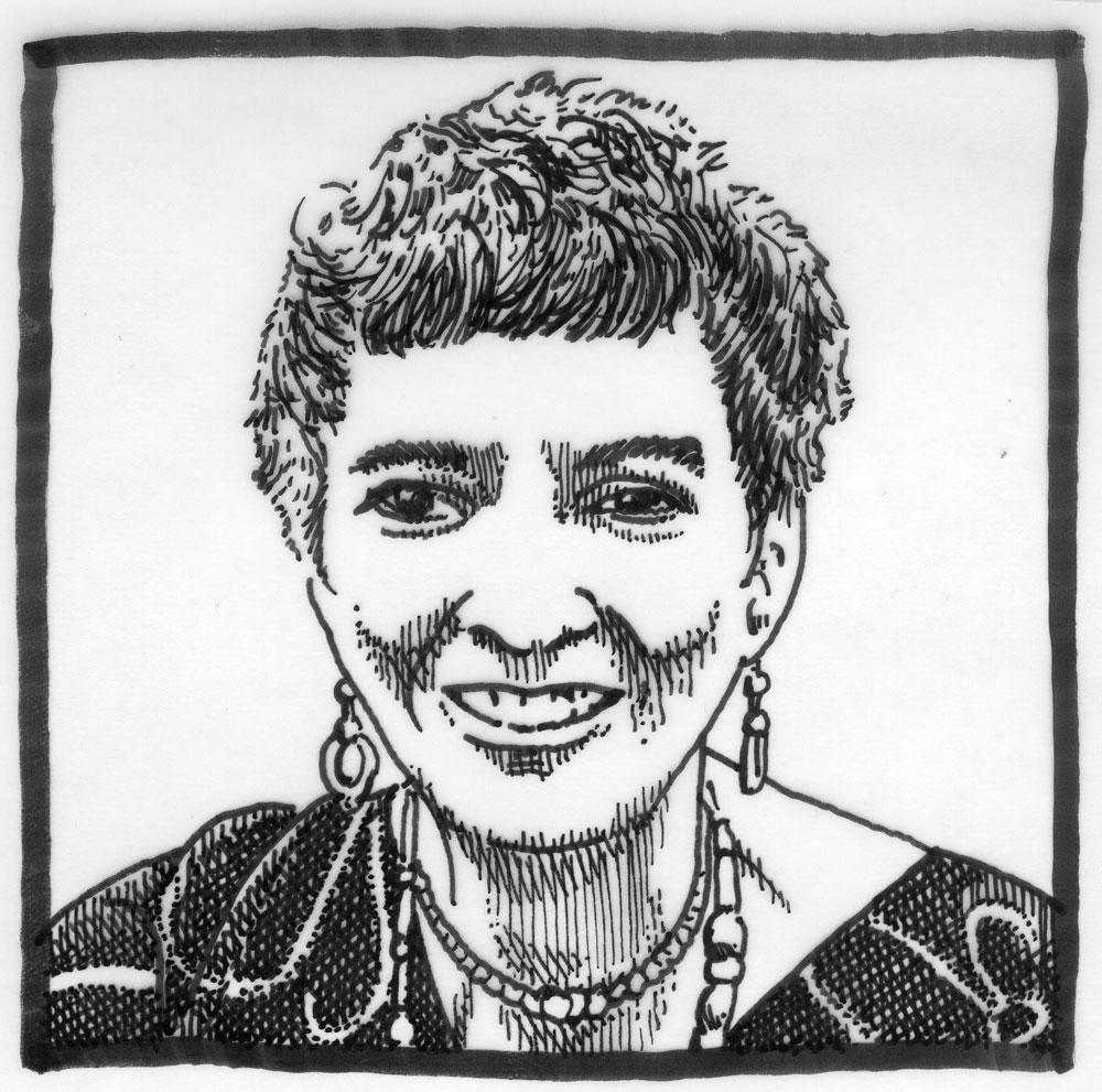 Madeleine L'Engle. Illustration credit: molosovsky [ CC BY-NC-SA 2.0 ],  via Flickr