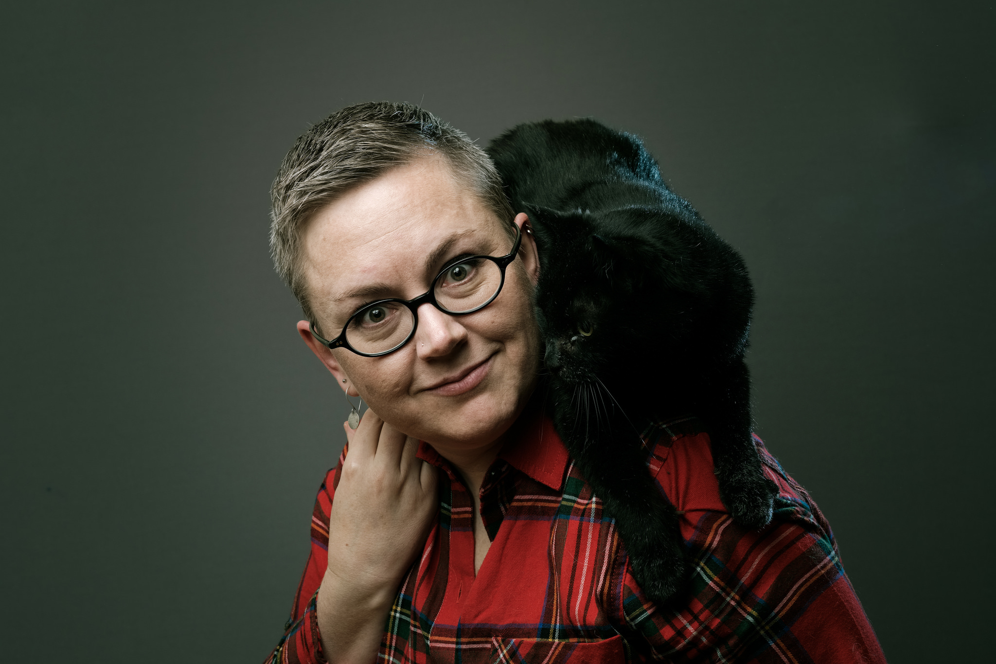 Oskar on my shoulders. Photo credit:  Aidan Morgan .