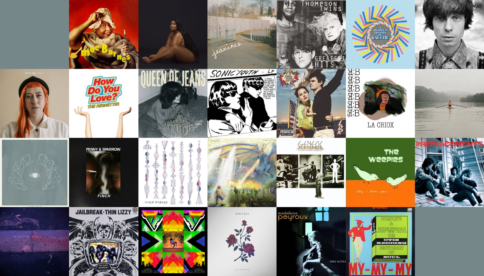 mosaic of album covers from Elan's September 2019 Mixtape