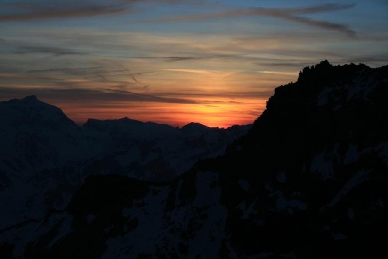 Solnedgang sett fra Bertol