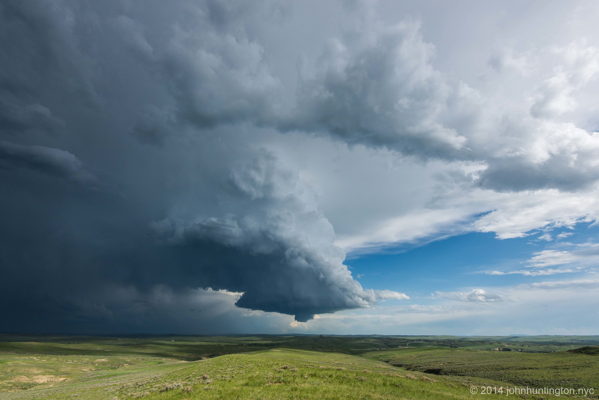Severe Thunderstorm near Gillette, Wyoming, May 2014