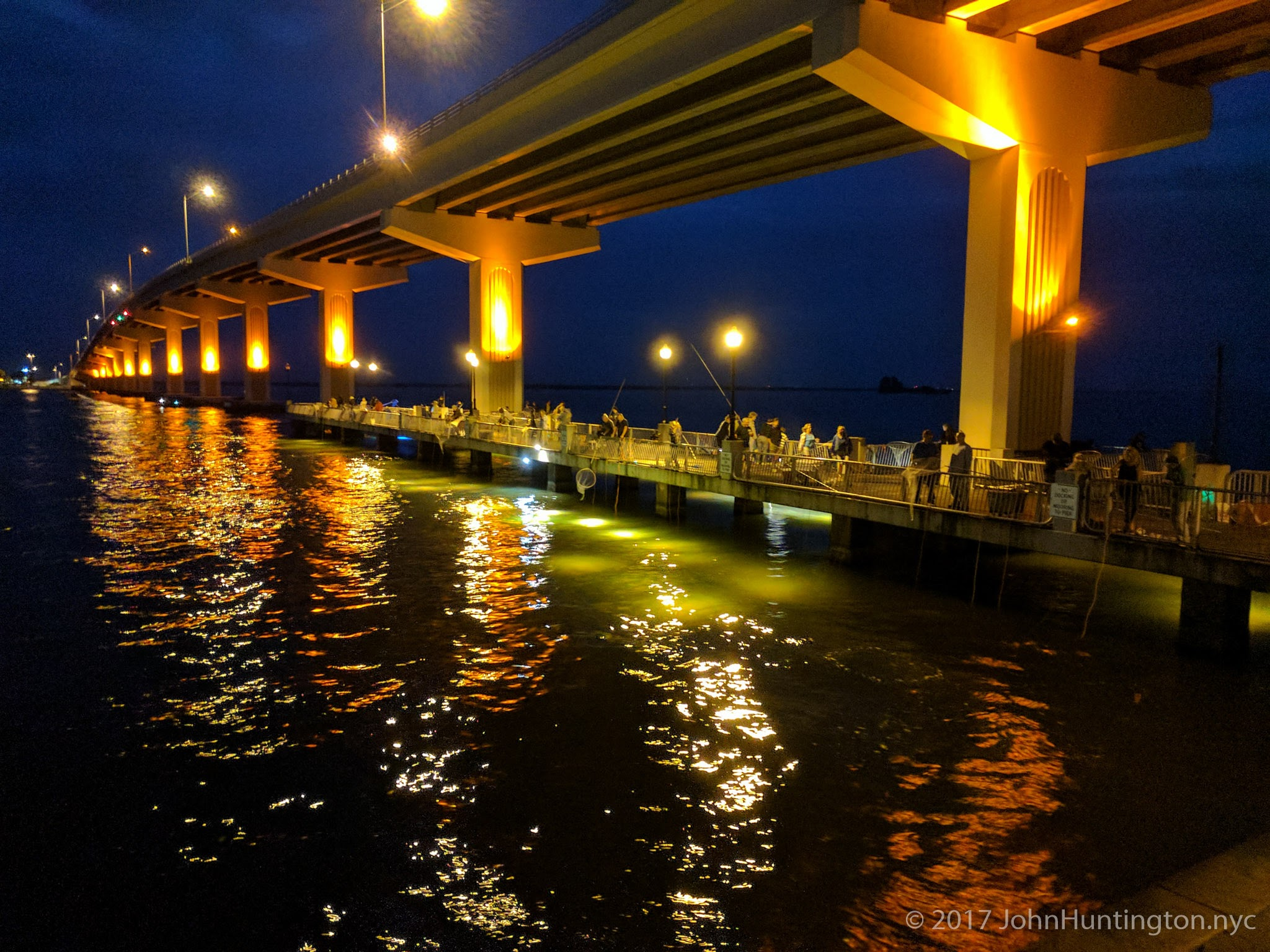 Fishing for shrimp with lights In Titusville