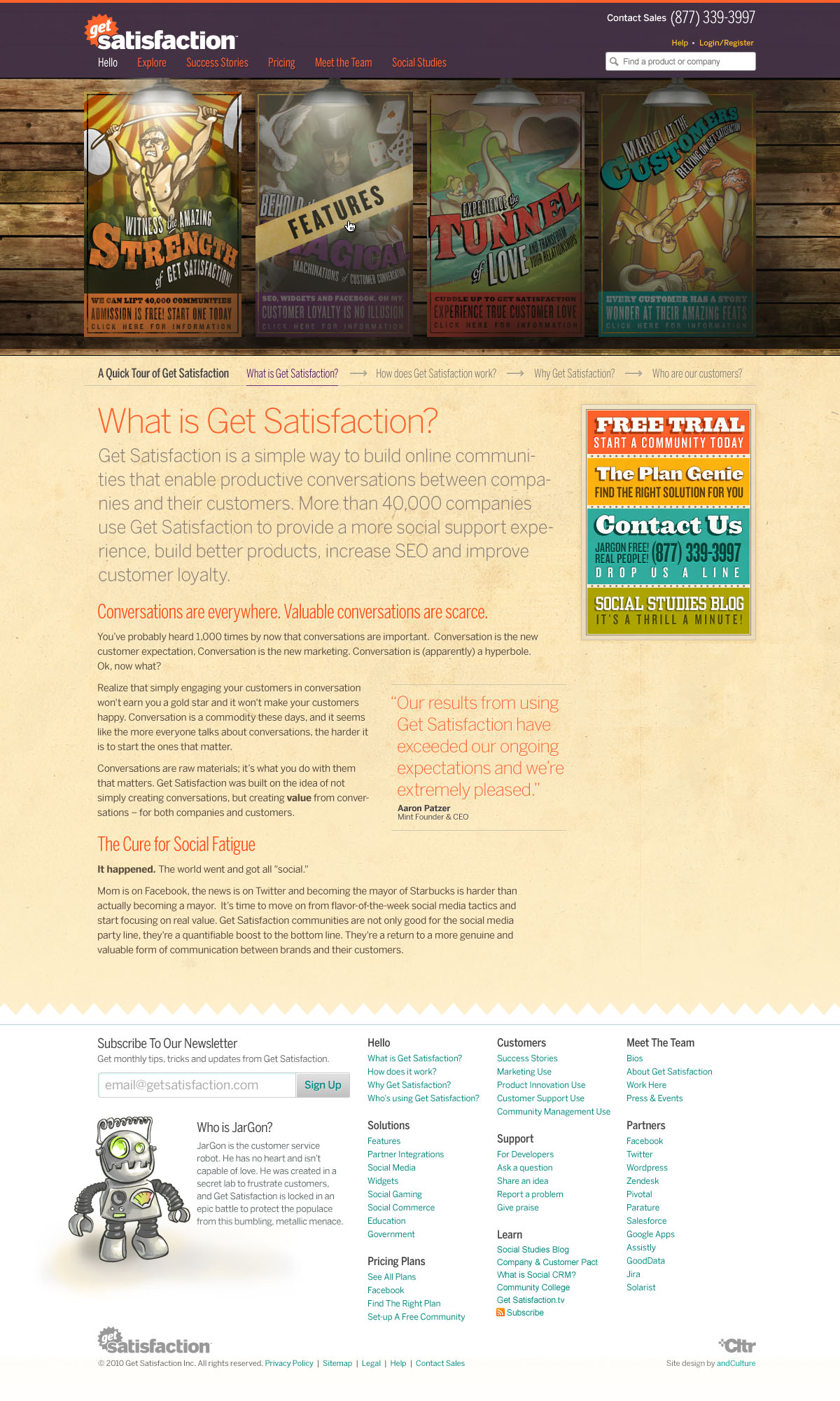 Get Satisfaction, About Get Satisfaction page, September 2010
