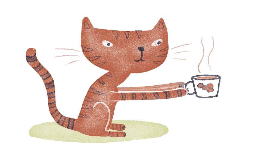 Did this little tea cat for a Twitter friend...