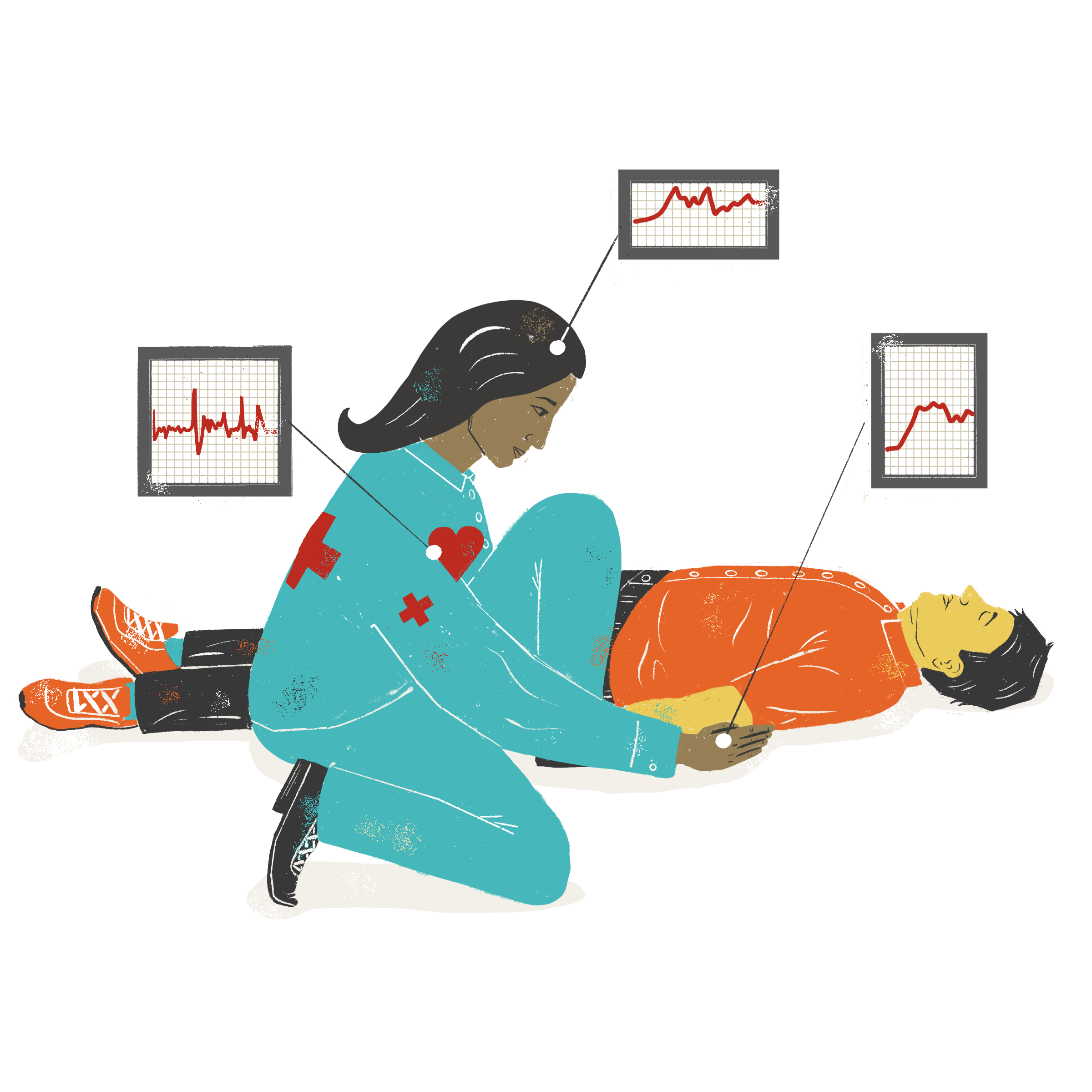 monitoring biological responses in EMTs to assist them in developing coping strategies