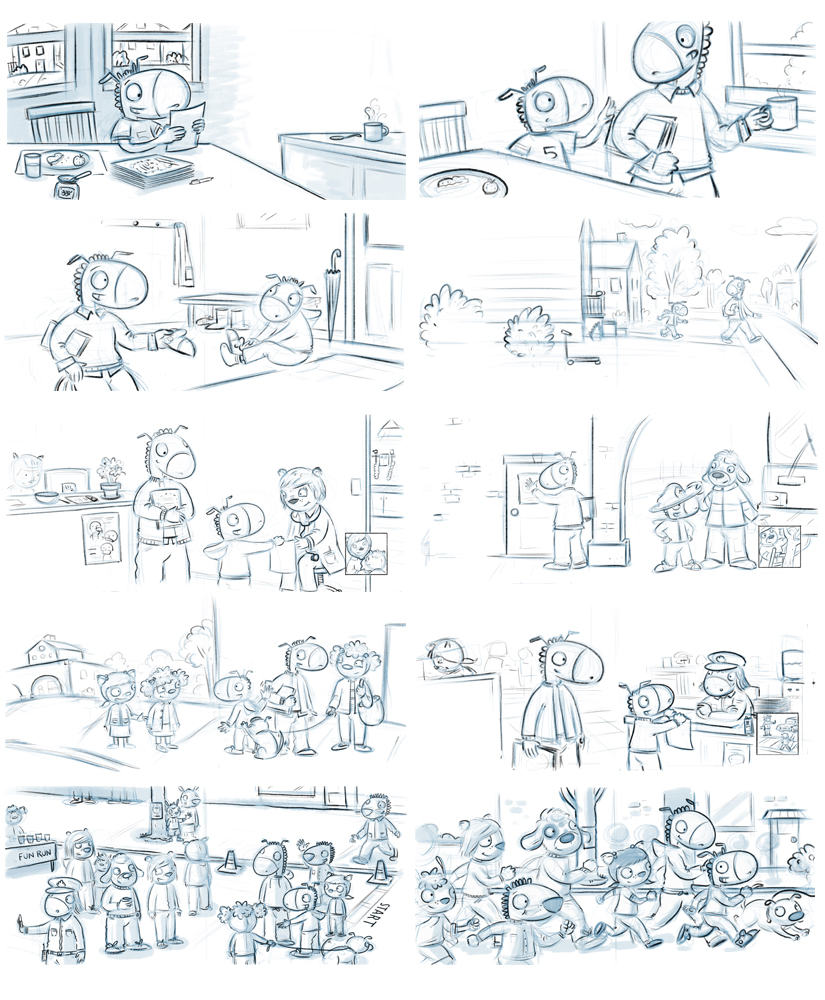 Thumbnail sketches from Percy's Neighborhood