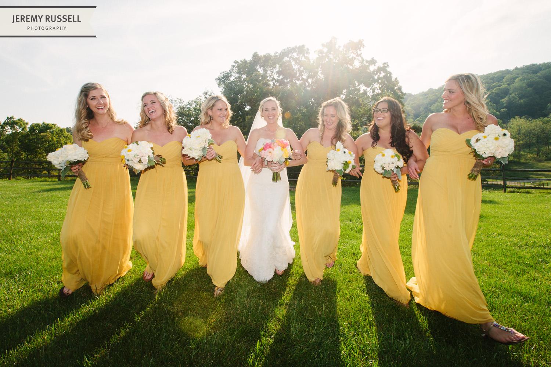 Bridesmaids at Claxton Farm