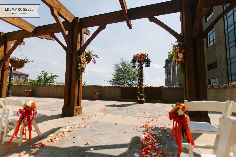 Ceremony flowers at Grove Park Inn wedding