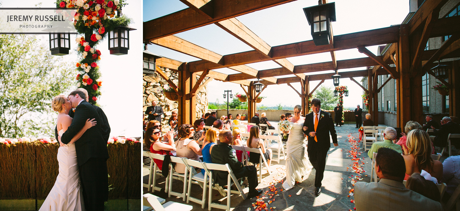 Wedding ceremony in Asheville, NC