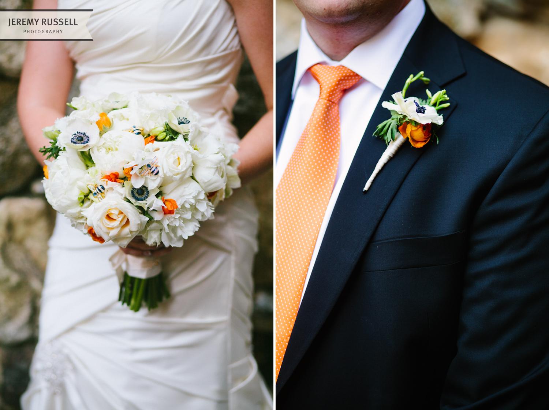 Bride and groom floral by BobbyMarks Designs