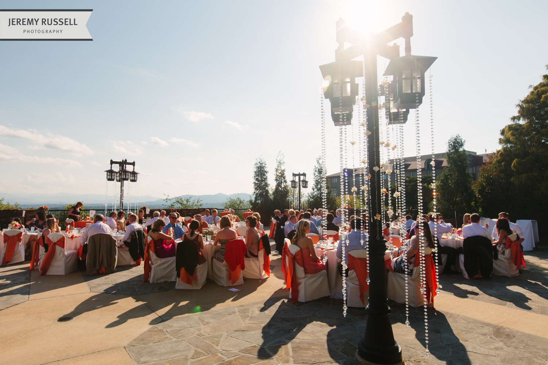 Wedding reception in Asheville, North Carolina