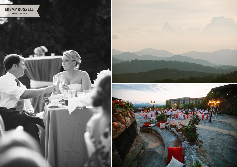 Grove Park Inn wedding reception
