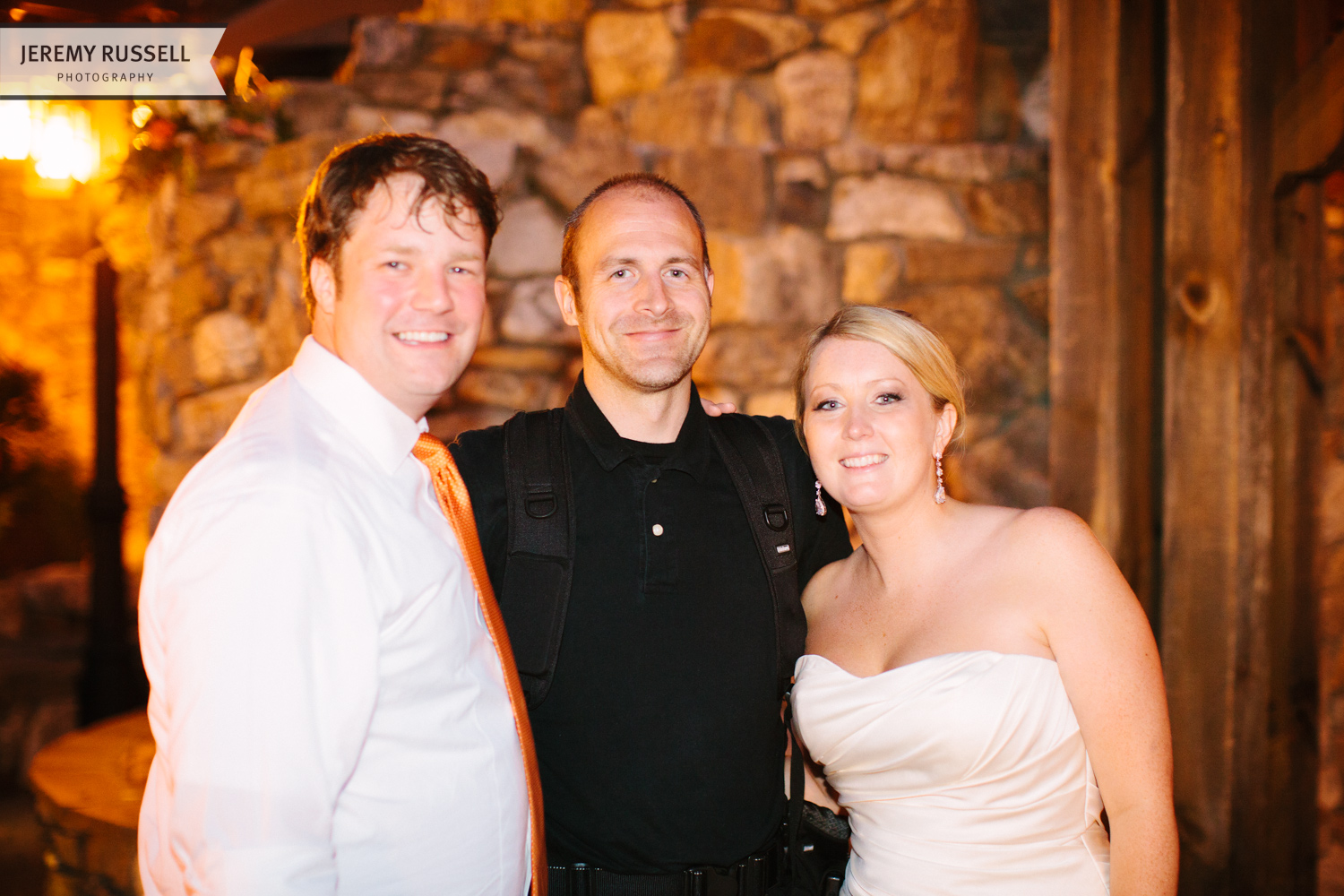 Bride and groom with Jeremy