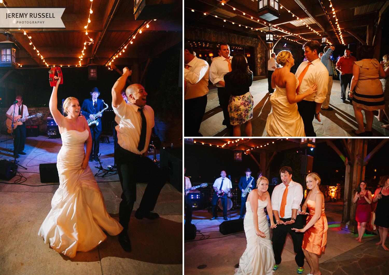 Fun wedding reception at Grove Park Inn