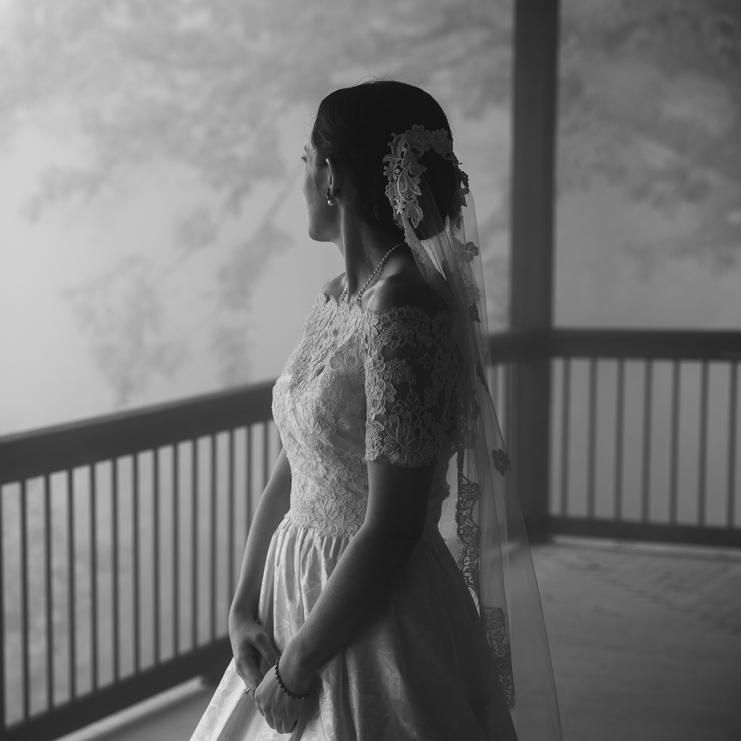 Bride in Western NC Mountains