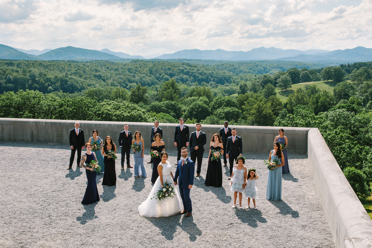 Wedding Party at The Biltmore Estate in Asheville