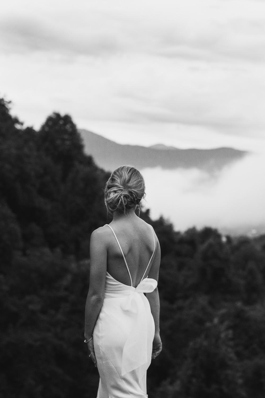 Bride Portrait in NC Mountains